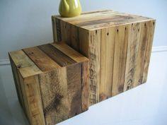 Würfel aus Palettenholz