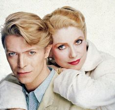 David Bowie & french actress Catherine Denueve