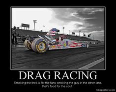 This makes me think about my Daddy and many long days and nights at a drag strip :)