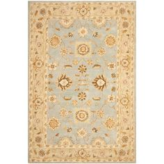 @Overstock - This handmade Oriental wool rug by Safavieh adds luxury and style to any room. A thick pile makes it a pleasure to walk barefooted across the rug. This area rug was colored using a pot-dying technique, showcasing gentle shades of blue and beige.http://www.overstock.com/Home-Garden/Hand-made-Farahan-Blue-Sage-Hand-spun-Wool-Rug-9-x-12/6470186/product.html?CID=214117 $689.99