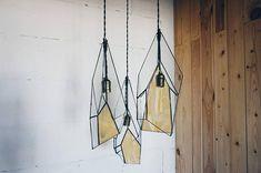 Geometric lamp vintage light loft lamp stained glass lamp