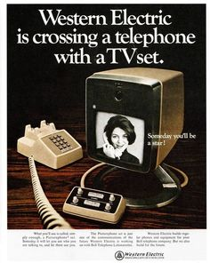 1960s Western Electric videophone advertisement.