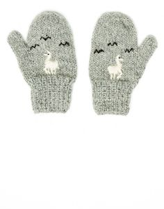 Grey Alpaca Baby Mittens {The Little Market}