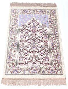 Pamuklu, Simli ve Şönilli Dokuma Seccadeler prayer rug, praying carpet www.ayazyun.com