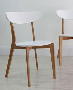Senn Oak and White Dining Chair from Danetti.                                                                                                                                                                                 More