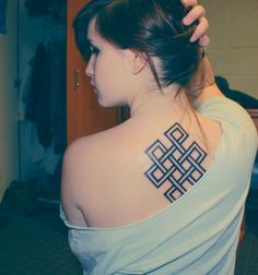 The buddhist endless knot symbolizes eternal harmony, and the connection of compassion and wisdom.
