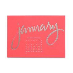 Sugar Paper Bright Desk Calendar  #currentlycoveting
