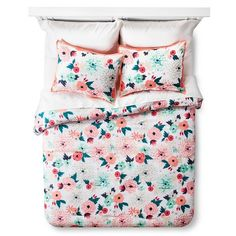 Multi Floral Printed Comforter Set - Multicolor ... : Target