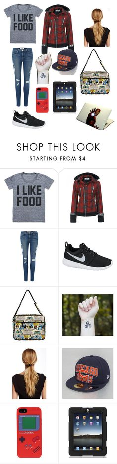 """Just putting things together in the morning. No effort. To lazy to care"" by apollokid123 ❤ liked on Polyvore featuring Poizen Industries, Frame, NIKE, Natasha and Marvel"
