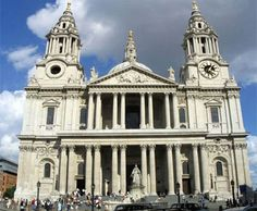 Catedral de San Pablo en Londres Arquitectura de lineas estilisticas Neoclasicas