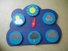 El tiempo - The weather (Español - Spanish) Weather Activities For Kids, Weather Crafts, Diy For Kids, Crafts For Kids, Weather And Climate, Beginning Of The School Year, Kids Corner, Kids Cards, Kids Education