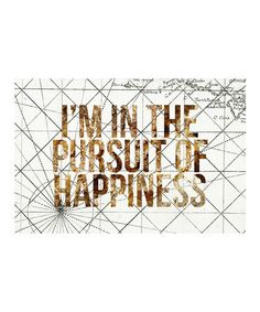 This 'Pursuit of Happiness' Art Print is perfect! #zulilyfinds