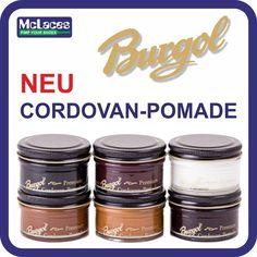 Burgol Cordovan Pomade 6 Faben   im 50ml-Tiegel Preis 9,50 €