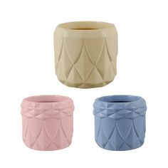 Geometric embossed pastel pots - Buy at Dymak | Wholesale