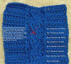 cable x cross stitch