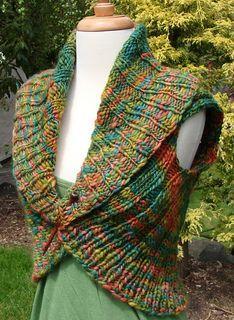 Ravelry: Shawl Collar Vest pattern by Jennifer Miller (free pattern)