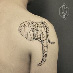 elephant by Bicem – Sinik, Istanbul, Turkey | outline simple tattoos