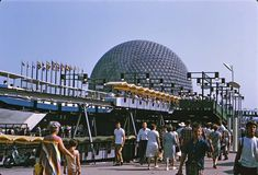 "Today I'm featuring some photos of the United States Pavilion from Montreal's ""EXPO This geodesic dome was designed by none other tha. Expo 67 Montreal, Montreal Quebec, Montreal Canada, Disney World Resorts, Walt Disney World, Swinging London, Historical Images, World's Fair, Osaka"