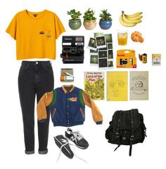 """""""#26"""" by eugecazzari ❤ liked on Polyvore featuring Monki, Gypsy, Olympia Le-Tan, LIST, Kinto, Polaroid, Topshop, Me & Zena and AllSaints"""