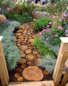 muebles-troncos-entrada-jardin