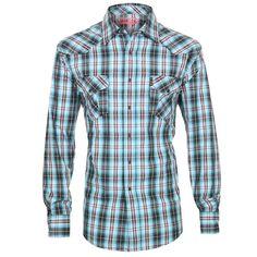 Cinch Men's Plaid  Long Sleeve Western Shirt