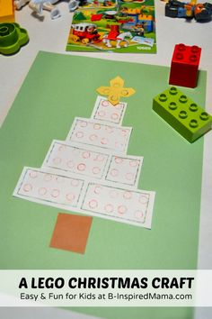 An Easy and Fun Kids Christmas Craft Using LEGO® DUPLO® - sponsored by LEGO