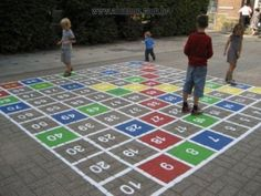 """Get great tips on """"playground outdoor classroom"""". They are actually on call for you on our web site. Playground Painting, Playground Flooring, Playground Games, Outdoor Playground, Map Painting, Painting Concrete, Outdoor Activities For Kids, Outdoor Learning, Outdoor Classroom"""
