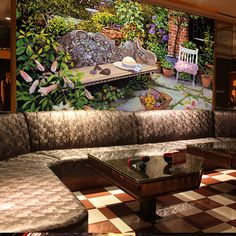 Ecological American style garden 3d wallpaper mural living room sofa background flowers and vegetable oil painting 3d wall paper #Affiliate