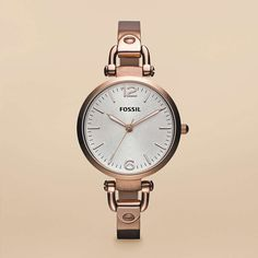 FOSSIL® Watch Collections Georgia Watches:Women Georgia Stainless Steel Watch - Rose ES3110
