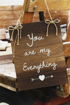 Rustic Wedding theme wood sign with quote