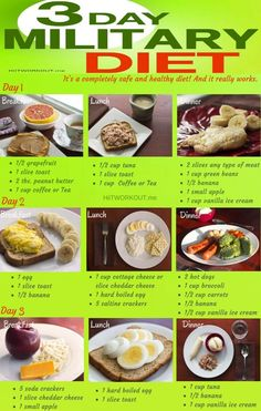 The 3 day Military Diet A Beginner's Guide with a meal plan