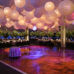 Lantern wedding reception ideas...love this look and feel with the colors and glow. plus the trees bring nature to the feel which i love too