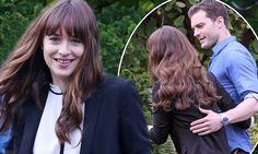 Fifty Shades Darker's Jamie Dornan and Dakota Johnson play happy newlyweds on set | Daily Mail Online