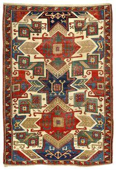 Star Kazak rug, Caucasus, first half 19th century, 157 x 230 cm. Zaleski Collection