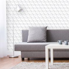 A estampa com efeito 3D está super na moda e pode ser aplicada em qualquer ambiente pois é bem versátil.