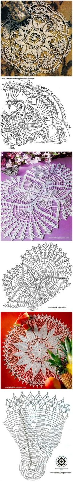 Lots of free crochet doily patterns here. by Lindevrouw