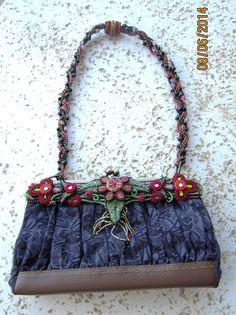 MARY FRANCIS Fabric/Beaded Shoulderbag Purse  #MaryFrances #ShoulderBag