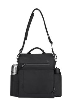Take comfort in knowing your items are safe with this roomy messenger bag! It features a spacious main compartment, front zippered organizer with RFID blocking technology, 2 mesh expansion pockets to hold extra items, adjustable shoulder strap with non-slide strap pad, and an air mesh back panel for comfort.