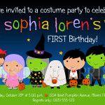Halloween Bday Invitations