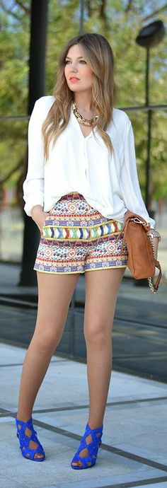 Printed Shorts by Just CoCo