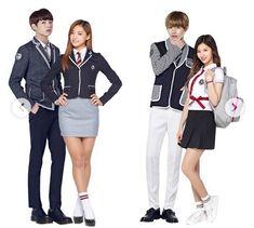 Bts Twice, Schoolgirl Style, Bias Kpop, We Get Married, Korean Couple, School Uniform, Tween, Designer Dresses, Harajuku