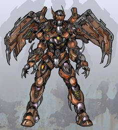 Winged robot by Sw-Art.deviantart.com on @deviantART