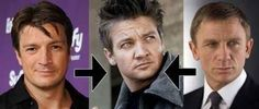 How Nathan Fillion + Danial Craig = Jeremy Renner. 30 things you will never be able to unsee