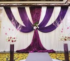 backdrop cross H x W wedding backdrop sequn curtain for event backdrop.Color and Size can be customized Wedding Ceremony Ideas, Wedding Stage, Wedding Backdrops, Ceremony Backdrop, Wedding Favors, Diy Wedding, Party Favors, Party Decoration, Stage Decorations