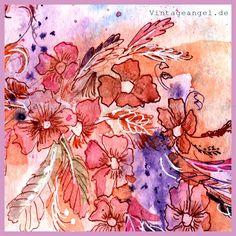 Colorful, Aquarell/Ink Art, Close-up