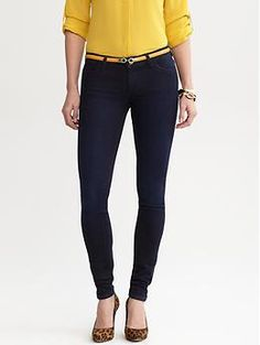 Indigo denim legging | Banana Republic. I <3 these so much. They fit really well, which is rare. BR jeans tend to be a miss for me.