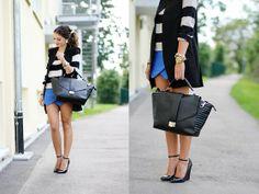 Portfolio skirt + stripes + blue klein