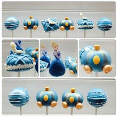 These Cinderella cake pops, which are so beautiful, they had to have been made by her Fairy Godmother. | 27 Disney Princess Confections That Will Blow Your Mind