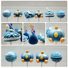 Cinderella pop cakes <3