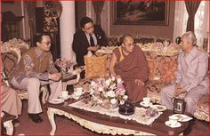 Jakarta 1982. Dr. Aggi Tjetje as Chief Financial Officer of the World Buddhist Organization concurrently Vice President of the World Buddhist Youth Organization accompanied the Head of Tibetan Government in exile of YTS Dalai Lama who paid a courtesy visit to Vice President Adam Malik at the residence of Jl Diponegoro.